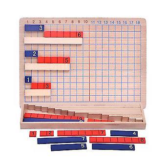 Montessori Matematik Undervisning Legetøj til børn Addition Subtraktion Board Math Legetøj