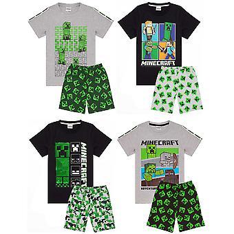 Minecraft pizsama fiúknak | Kids 4 stílus lehetőségek | Creeper Steve Alex Zombie karakterek Gamer póló | Childrens Rövid PJs Set Merchandise Ajándékok