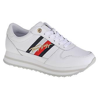Tommy Hilfiger Signature Runner Sneaker FW0FW05218YBR zapatos universales de mujer todo el año