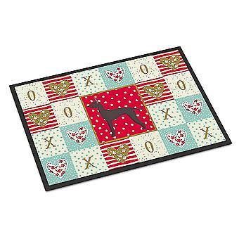Door mats carolines treasures ck5864jmat mexican hairless dog #1 love indoor or outdoor m