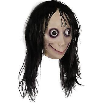 Horror Teufel Maske mit langen Haaren, Halloween Dekoration Requisiten