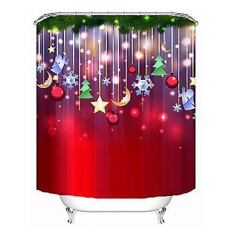 1.8x1.8m Festival wasserdichte Dusche Vorhang Polyester Stoff Badezimmer Home Decor 12 Haken