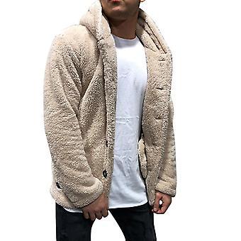 Men Teddy Bear Jacket Fleece Coat Hooded Coat Winter Faux Fur Outerwear