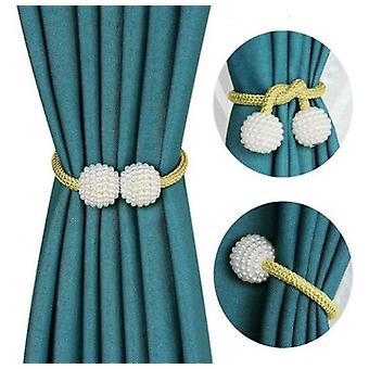 2 Pcs Magnetic Curtain Tiebacks Curtains Tiebacks For Home Office Window Drapries
