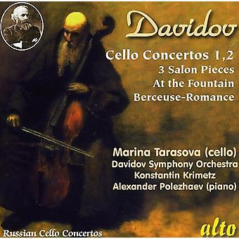 M. Davidovsky - Karl Davidov: Cello Concertos 1 & 2; 3 Salon Pieces; at the Fountain; Berceuse-Romance [CD] USA import