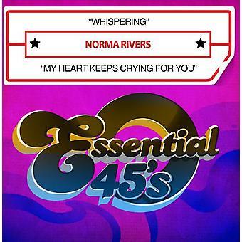 Importieren Sie Norma Rivers - Whispering/My Herz hält für Sie [CD] USA Weinen