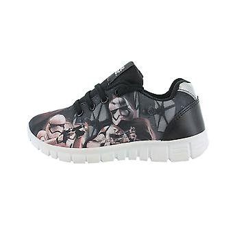 Boys Star Wars The Last Jedi Black Lace up Casual Trainers Various UK Sizes
