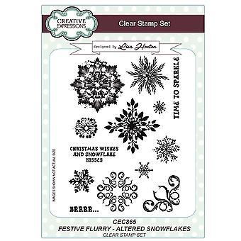 Creative Expressions Lisa Horton Festive Flurry | Altered Snowflakes*^^