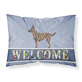 Dutch Shepherd Welcome Fabric Standard Pillowcase