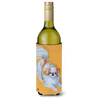 اليابانية الذقن نعالها عازل المشروبات زجاجة النبيذ الأحمر لعب بيضاء