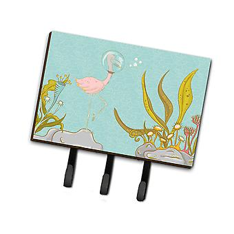 Carolines Treasures  BB8557TH68 Flamingo Underwater #2 Leash or Key Holder