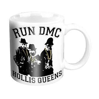 Run DMC Mug Holis Queens Pose Band Logo Official New White 11fl oz Ceramic Boxed