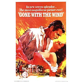 Gone with the Wind - classique affiche Poster Print