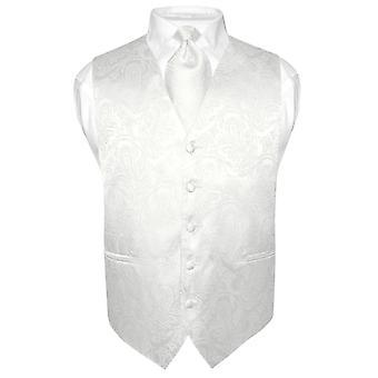 Mäns Paisley Design klänning Vest & slips hals slips Set