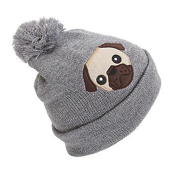 أطفال الفتيات تصميم الحيوانية بريق قبعة الشتاء قبعة صغيرة مع بوم بوم