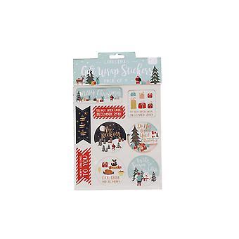 CGB Giftware Christmas 9 Festive Greeting Gift Stickers