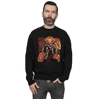 Marvel Men's Avengers Infinity War Hulkbuster Blueprint Sweatshirt