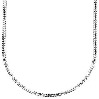 925 sterlinghopea bling frankkien ketju - 2x2mm