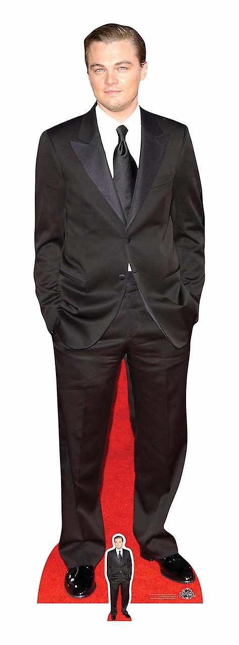 Leonardo DiCaprio Black Suit Lifesize and Mini Cardboard Cutout Standee
