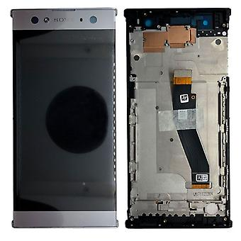 Sony display LCD complete unit with frame for Xperia XA2 ultra silver spare parts