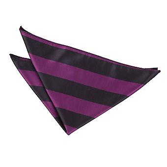 Purple & Black Striped Pocket Square