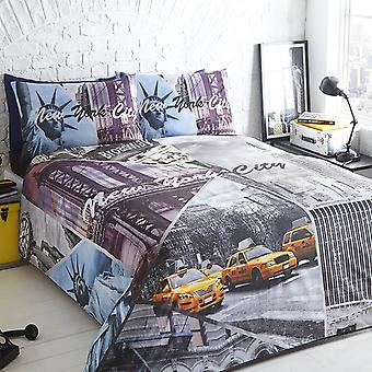 Pieridae New York City Scene Duvet Cover Quilt Cover Bedding Set