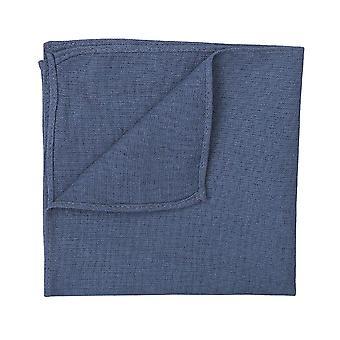 Tumma sininen Hopsack pellava tasku neliö
