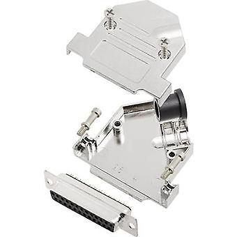 encitech D45NT25-M-DBS-K 6355-0072-23 D-SUB receptacle set 45 ° Number of pins: 25 Solder bucket 1 Set