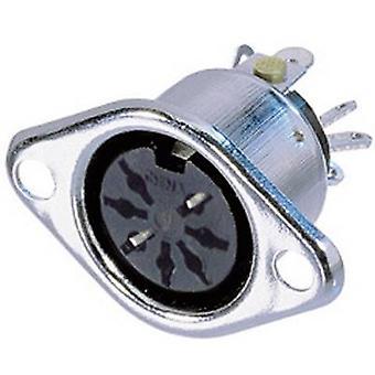 Neutrik NYS326 DIN connector manga soquete, reta pinos número de pinos: 7 prata 1 computador (es)