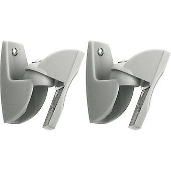 Speaker wall mount Tiltable, Swivelling Distance to wall (max.): 3 cm 1 Pair Vogel´s VLB 500 Silver