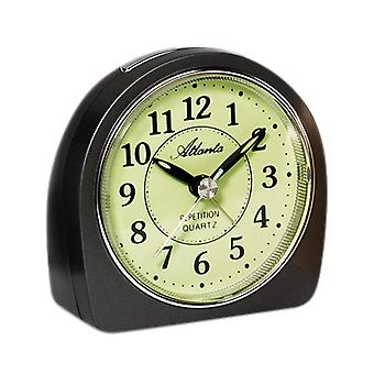Atlanta 1586/4 alarm clock quartz analog anthracite quietly without ticking with light Snooze