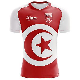 2018-2019 تونس العلم مفهوم كرة القدم قميص