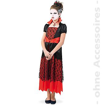 Vampiress Vampirin Königin der Nacht Gräfin Dracula Teenager Halloween Kostüm