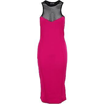 Ladies Celeb inspirert Nicole Racer fisk netto Slim fit Bodycon kvinners Midi påkledning