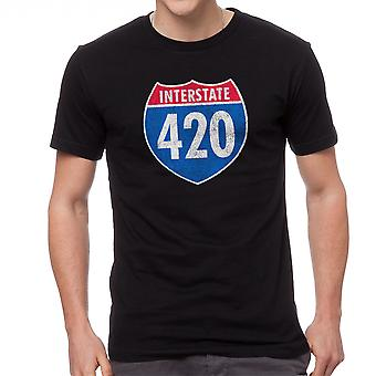 Interstate 420 Graphic Men's Black T-shirt