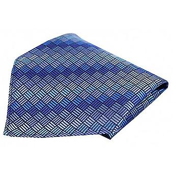 Posh and Dandy Box Pattern Luxury Pocket Square - Blue