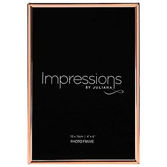 Juliana Copper Plated Oblong Thin Photo Frame 4x6 - Copper