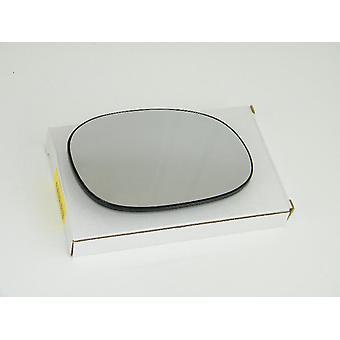 Vidrio espejo lateral del conductor derecho (calentado) y soporte para PEUGEOT 206 CC 2000-2010