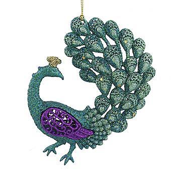 Pretty Peacock Christmas Tree Decoration