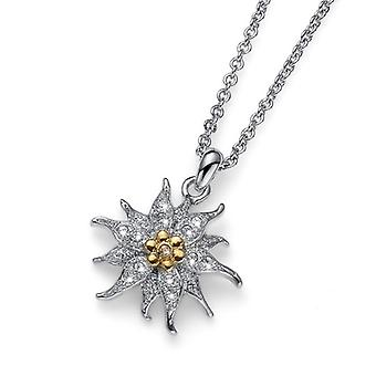 Oliver Weber Pendant Edelweiss Classic Rhodium Crystal