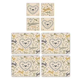 Cooksmart Woodland Placemats and Coasters