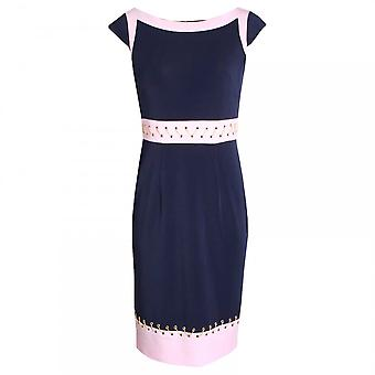 Veromia Occasions Capped Sleeve Dress With Gold Thread
