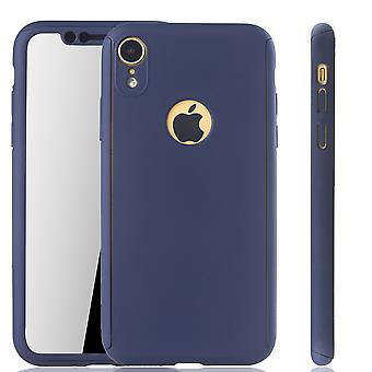 Protección completo funda tanque protección vidrio azul XR móvil caja de Apple iPhone