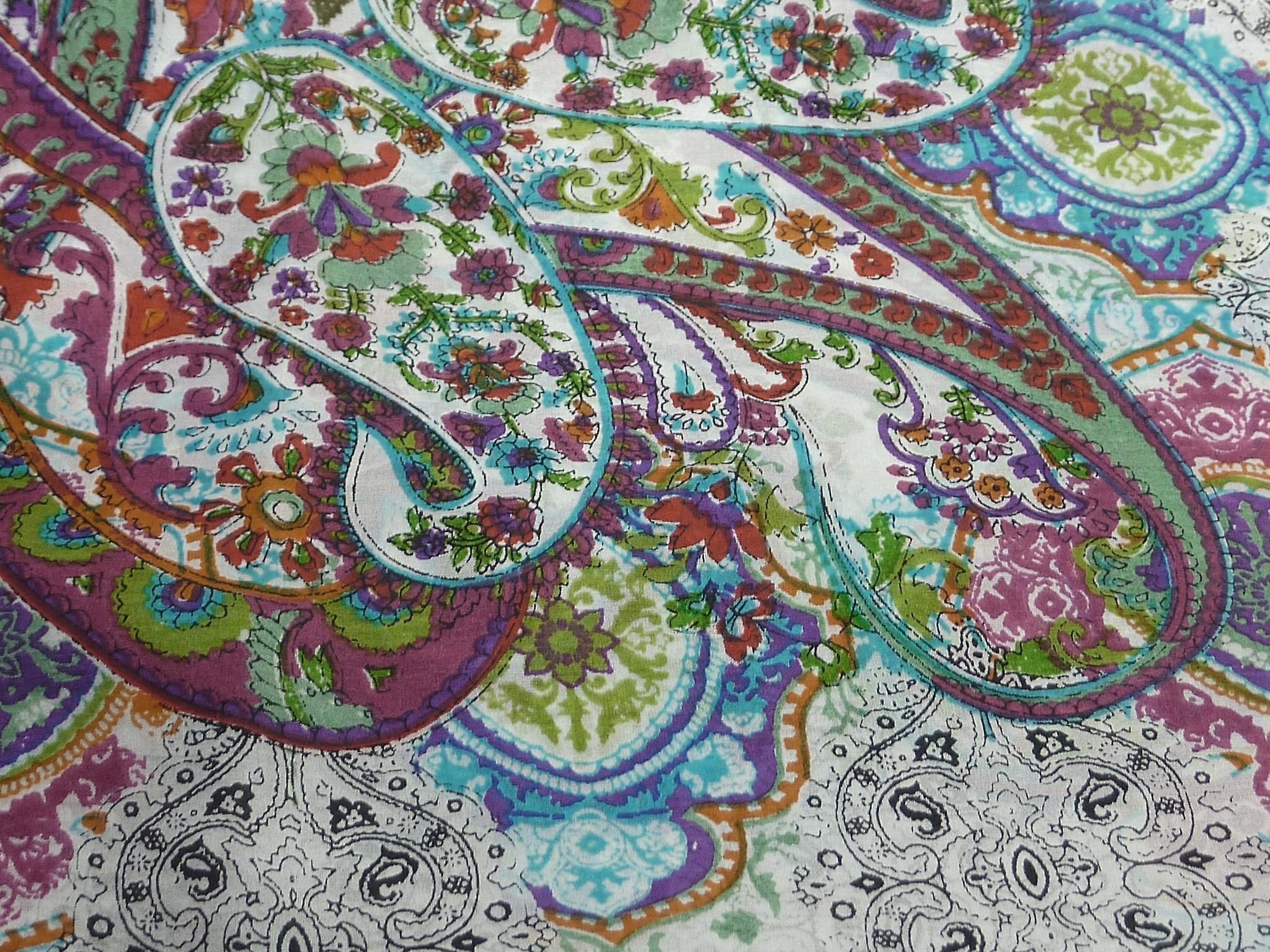 Mulberry Silk Classic Square Scarf Priya Ivory by Pashmina & Silk