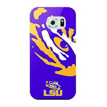 Mizco Sports NCAA Oversized Snapback TPU Case for Samsung Galaxy S6 (LSU Tigers)