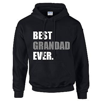 Bästa farfar någonsin Hoodie svart luvtröja