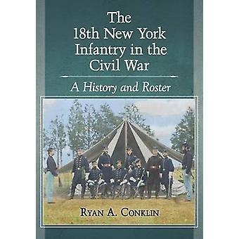 18 New York jalkaväen sisällissota - historia ja Roster mennessä