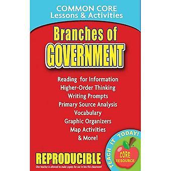 Zweige der Regierung: gemeinsame Kern Lektionen & Aktivitäten