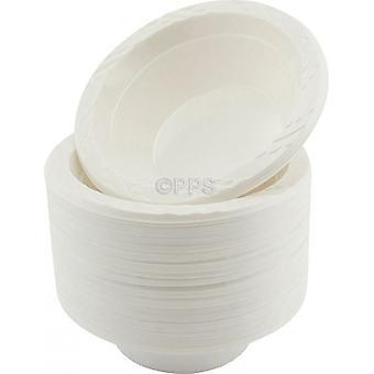 Verpakking van 100 platen Plastic kom wit 12oz 15cm wegwerp partij picknick kommen