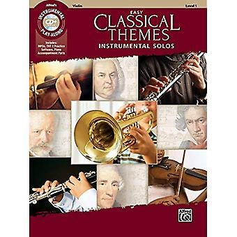 Lätt klassisk teman instrumentala solon för stråkar: Violin, bok & CD (Instrumental Solon)